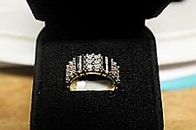 Lady's 18K Over Silver Diamond Ring (29)