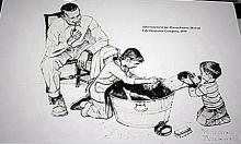 Norman Rockwell Lithograph-Advertisement for Masachussettes Mutual Life Insurance