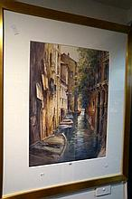 Watercolour, major work, Venetian Canal by AA