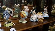 4 R/Albert Beatrix potter figures