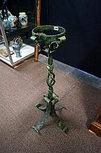 Wrought iron floor candelstand