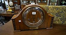 Oak westminster chime mantle clock