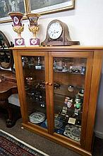 Kauri pine 2 door display cabinet