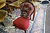 Vic small carved walnut ladies chair with original