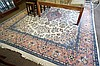 large cream woollen floor rug