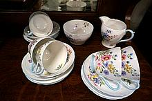 Shelley Wild flower tea set