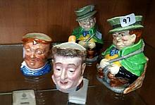 4 English Character & toby jugs inc R/Doulton &