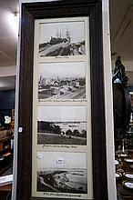 Framed set of 4 old photos of Eastern Beach,