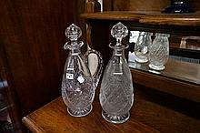 Crystal claret jug & matching decanter
