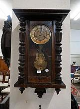 Vic walnut Vienna wall clock