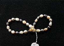 Pr coloured pearl bracelets