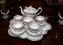 Shelley tea set on tray