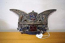 Rare 1920's enamel MUA car badge