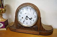 Large 1920's oak westminster chime mantle clock