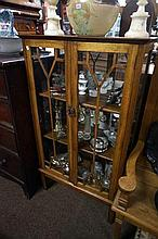Edw mah 2 door display cabinet with mirror back