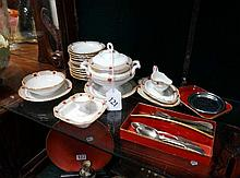 Vic childs part dinner set with cutlery, cutlery