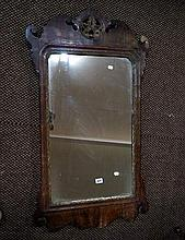 C19th Chippendale George II style wall mirror