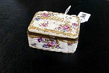 C19th Vienna h/painted porcelain trinket box