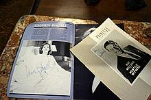 2 Autographed theatre programmes by Lauren Bacal &