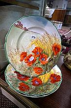 4 R/Doulton Poppies in corn field plates