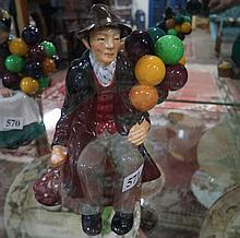 R/Doulton figure. Balloon man HN 1954