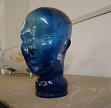 Vintage Blue glass head