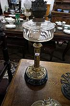 Vic cut glass banquet kero lamp