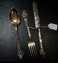 Vic s/silver ornately decorated with classical