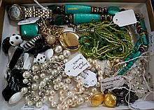 Assorted costume jewellery inc Laura Ashley.