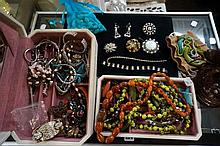 Large assortment of vintage costume jewellery