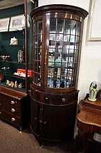 Unusual Edw mah half round display cabinet with