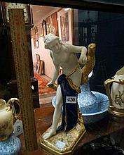 Royal Worcester gilded figure of semi naked woman