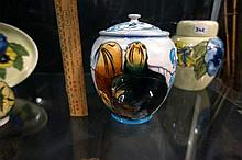 Moorcroft lidded pot, seals