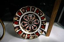 R/Crown Derby Imari pattern plate