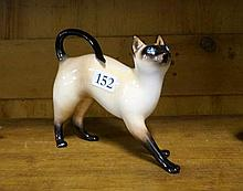 R/Doulton h/painted siamese cat figure HN 2660