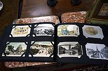 Early C20th album of postcards inc WWI cards inc 5