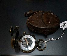 WWI Verners patent MOP dial pocket barometer dated
