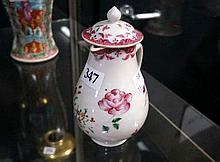 C18th Chinesew Famille rose lidded sparrow beak jug