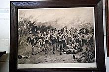 Edw Sepia print of Battle of Waterloo