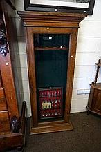 Late Vic oak gun cabinet