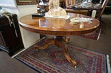 Vic burr walnut round pedestal based based dining table