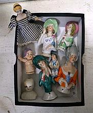 Assorted early C20th German hald dolls