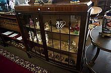 1920'sw mah Chippendale 2 door display cabinet
