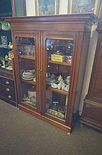 Edwardian kauri pine 2 door bookcase