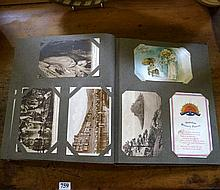 Early C19th & WWI postcard album