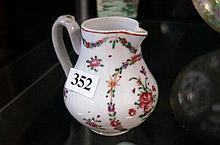 C19th Chinese Famille rose sparrow beak jug