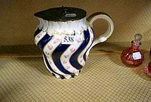 Vic pewter mounted porcelain jug