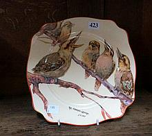 Wilkinson kookaburra plate by signed IA Crisp 'The singing lesson'