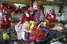 R/Doulton large figure, Flower sellers Children