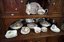 R/Doulton Roslyn part dinner set inc tea & coffee pots